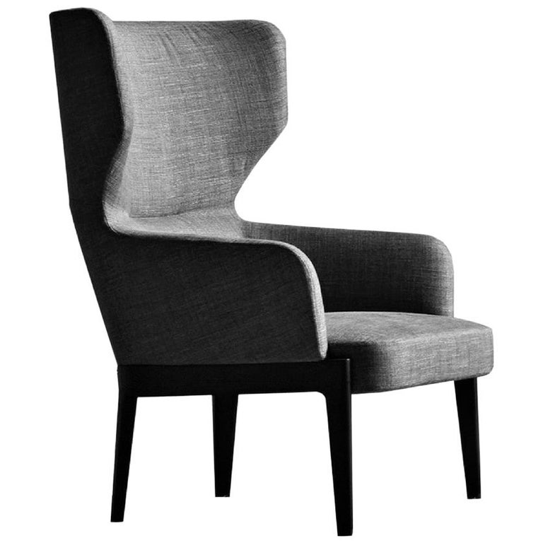 Molteni C Chelsea Lounge Armchair High Back For Sale At 1stdibs