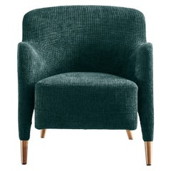 Molteni&C D.151.4 Armchair in Boucle Fabric by Gio Ponti