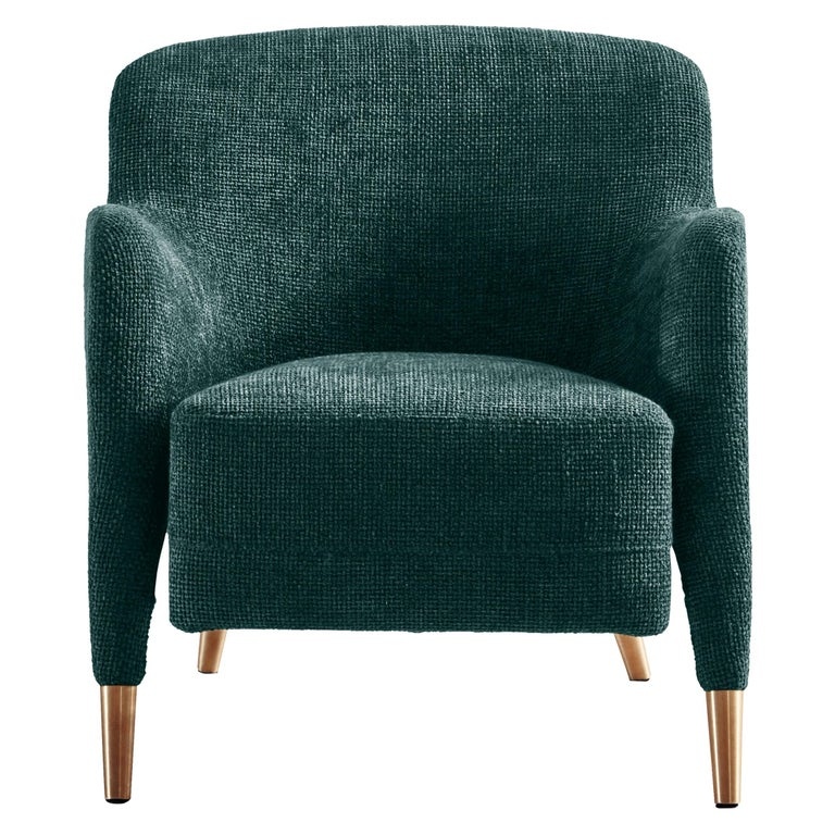 For Sale: Blue (ZF688_Petroleum) Molteni&C D.151.4 Armchair in Boucle Fabric by Gio Ponti