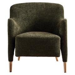 Molteni&C D.151.4 Armchair in Chenille Fabric by Gio Ponti