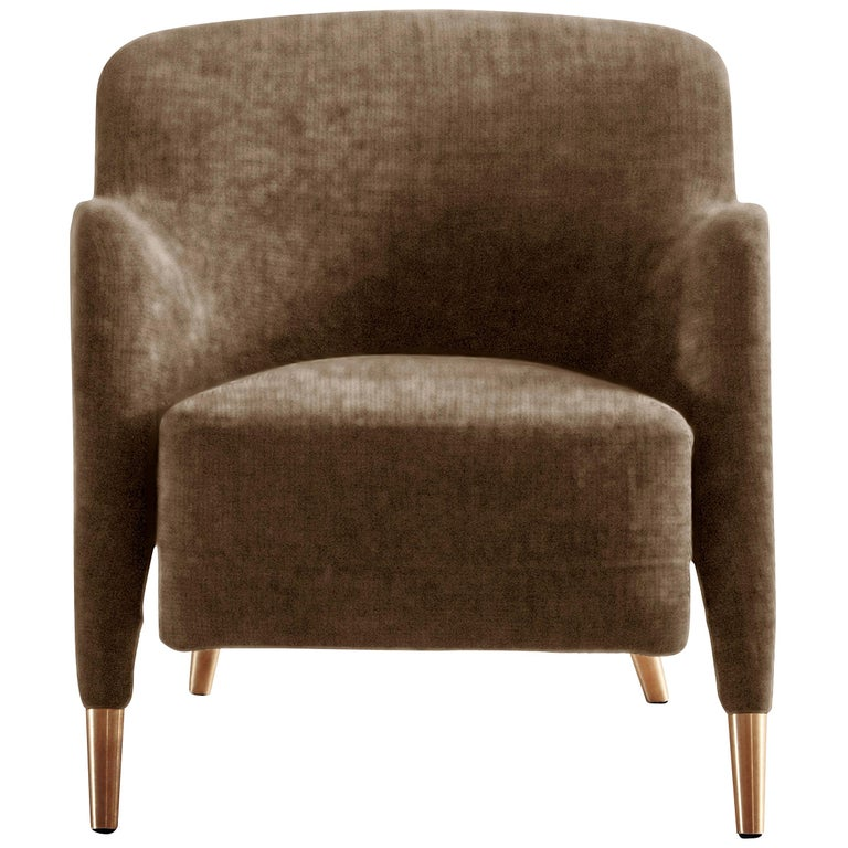For Sale: Brown (SD935_Taupe) Molteni&C D.151.4 Armchair in Leather by Gio Ponti