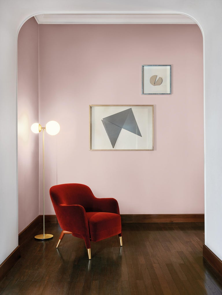 Molteni&C D.151.4 Armchair in Velvet by Gio Ponti In New Condition For Sale In New York, NY