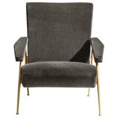 Molteni&C D.153.1 Armchair in Chenille by Gio Ponti