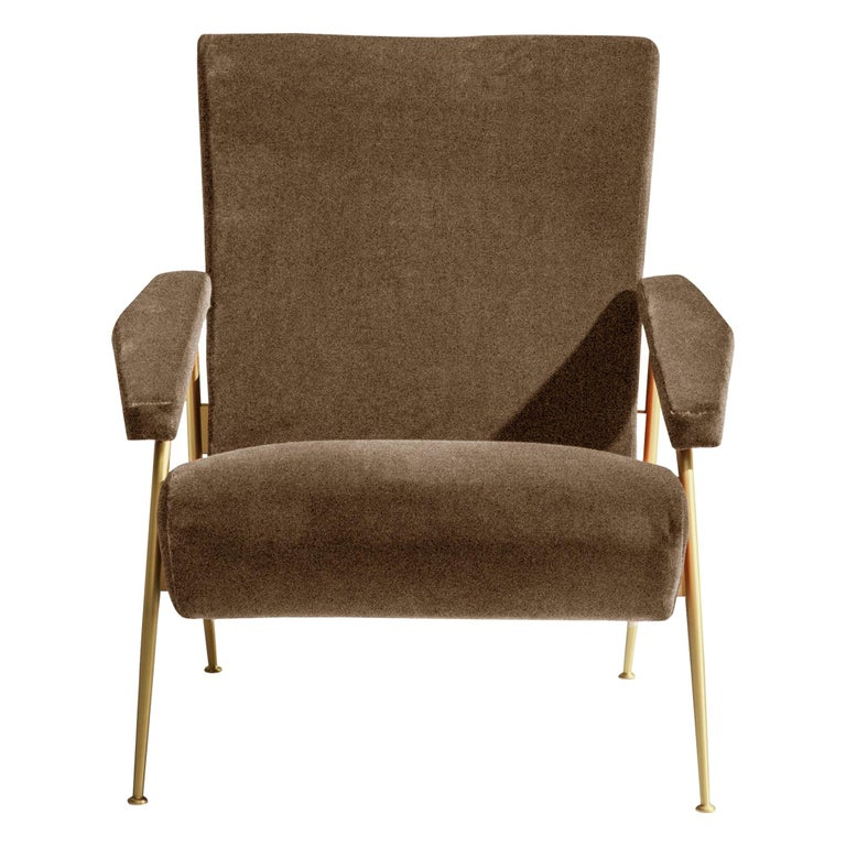 Molteni&C D.153.1 Armchair in Linen by Gio Ponti For Sale