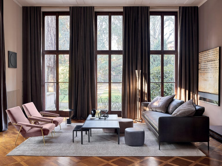 Italian Molteni&C D.153.1 Armchair in Velvet by Gio Ponti For Sale