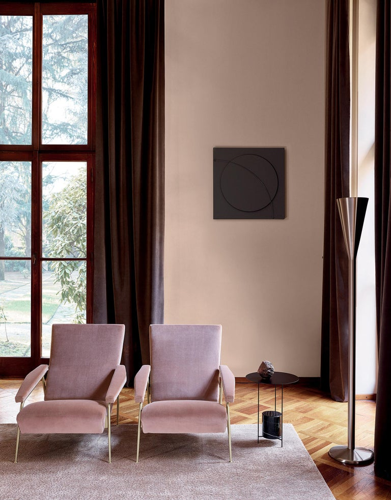 Hand-Crafted Molteni&C D.153.1 Armchair in Velvet by Gio Ponti For Sale