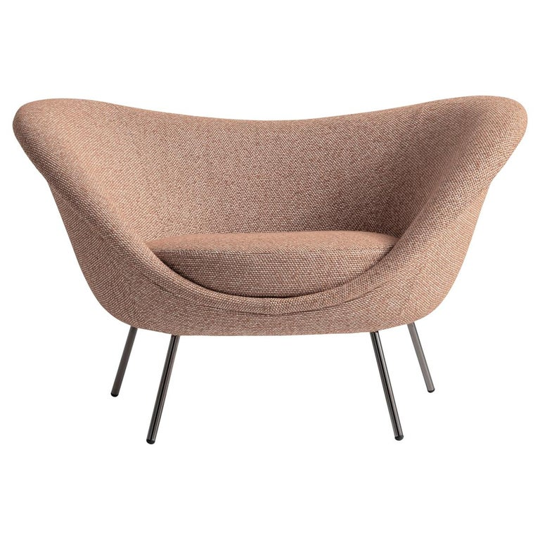 For Sale: Pink (ZF673_Pink) Molteni&C D.154.2 Armchair in Boucle by Gio Ponti