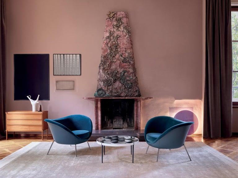 Italian Molteni&C D.154.2 Armchair in Velvet by Gio Ponti For Sale