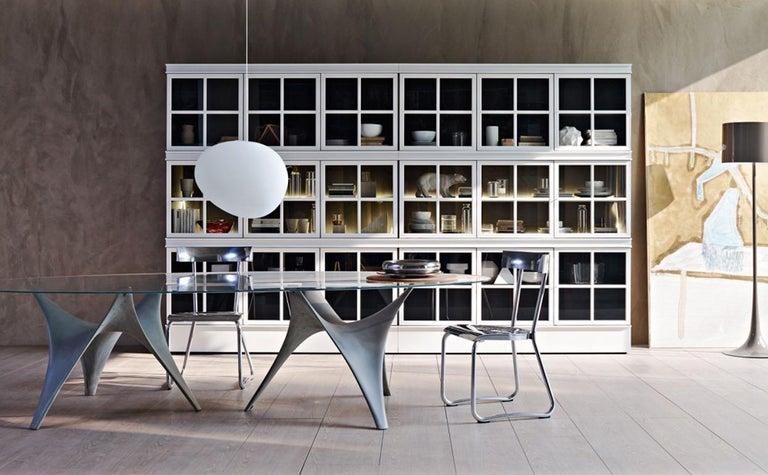 Italian Molteni&C D.235.1 Montecatini Dining or Studio Chair in Aluminium by Gio Ponti For Sale