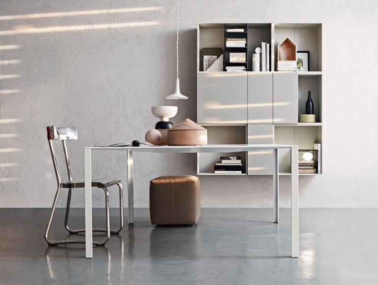Hand-Crafted Molteni&C D.235.1 Montecatini Dining or Studio Chair in Aluminium by Gio Ponti For Sale
