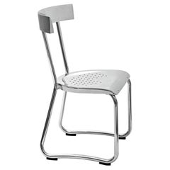 Molteni&C D.235.1 Montecatini Dining or Studio Chair in Aluminium by Gio Ponti