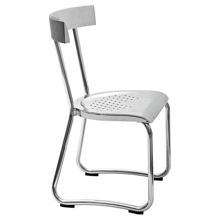 Molteni&C D.235.1 Montecatini Dining or Studio Chair in Aluminium by Gio Ponti For Sale