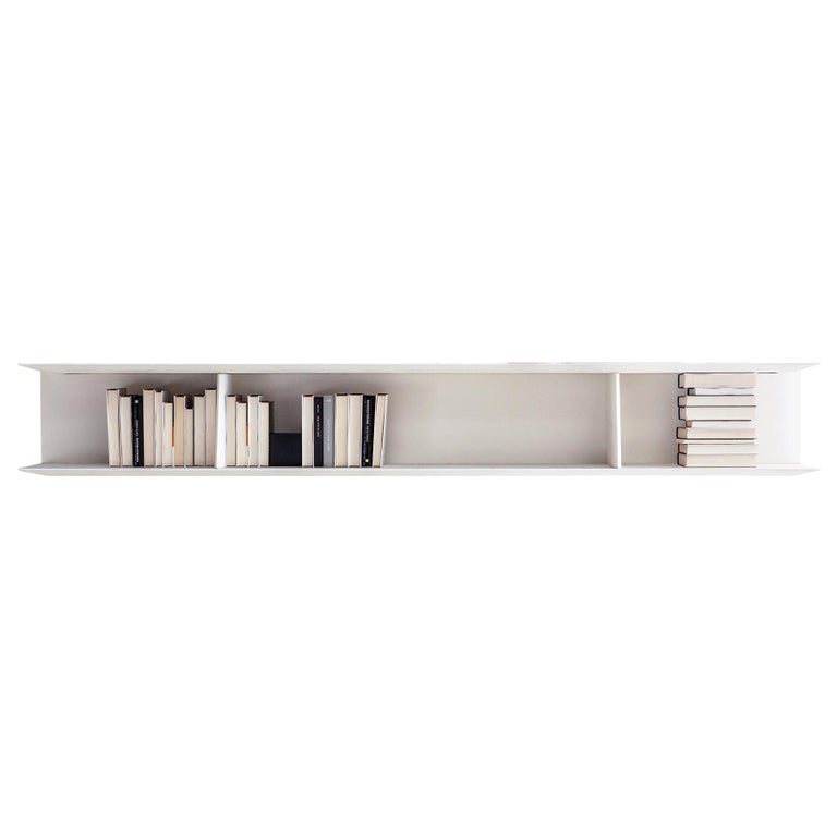 Molteni&C D.355.1 Large Suspended Bookcase Shelf in White by Gio Ponti For Sale