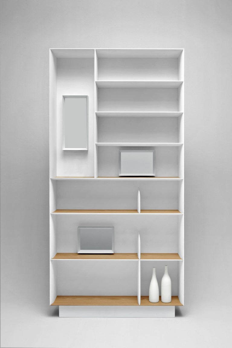 Part of the Moleni&C Heritage collection the D.357.1 bookcase by Gio Ponti is a remake of part of the furniture of Gio Ponti's private house ni Via Dezza in Milan. This re-edition is produced based on the original drawings from the Gio Ponti