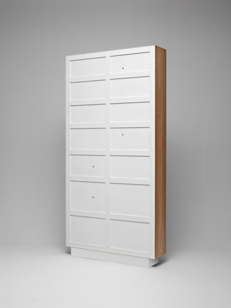 Italian Molteni&C D.357.1 Bookcase in Hand Painted White by Gio Ponti For Sale