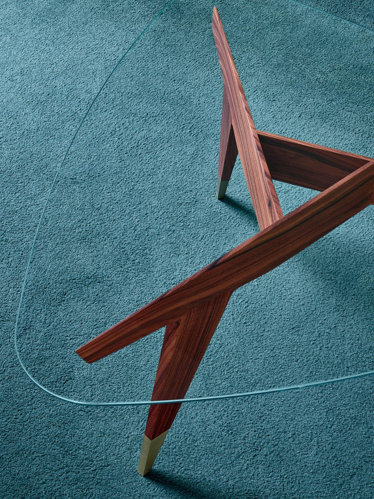 Italian Molteni&C D.552.2 Small Coffee Table in Rosewood and Glass by Gio Ponti For Sale