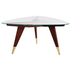 Molteni&C D.552.2 Small Coffee Table in Rosewood and Glass by Gio Ponti
