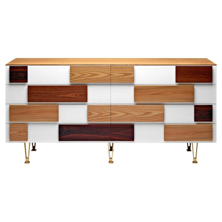 Molteni&C D.655.1 Large Chest of Drawers in Italian Walnut by Gio Ponti For Sale
