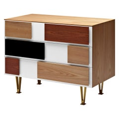 Molteni&C D.655.2 Small Chest of Drawers in Italian Walnut by Gio Ponti