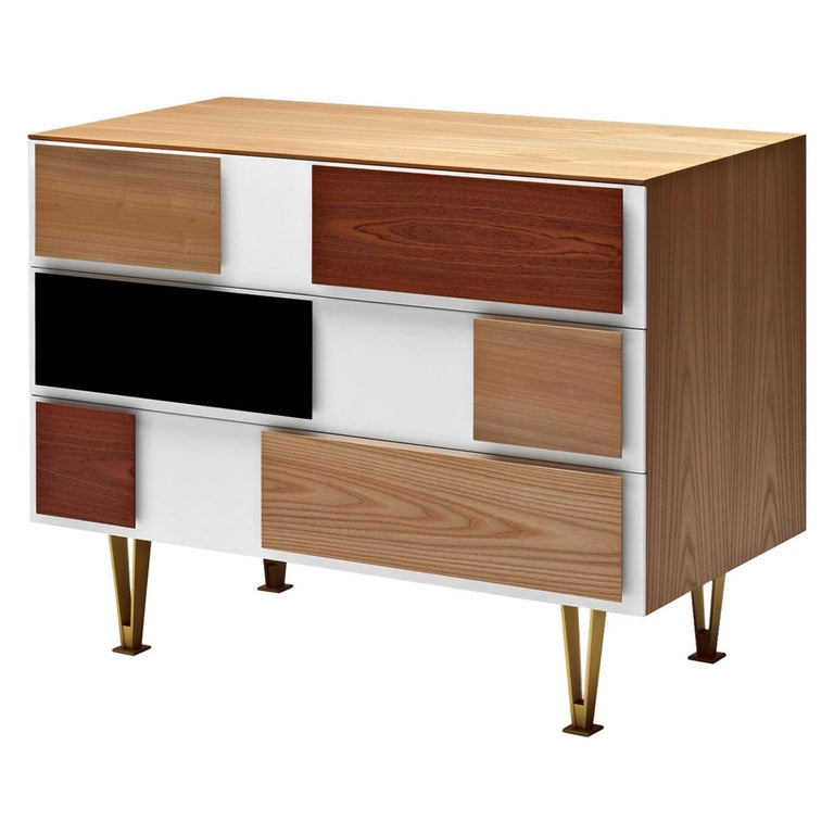 Molteni&C D.655.2 Small Chest of Drawers in Italian Walnut by Gio Ponti For Sale