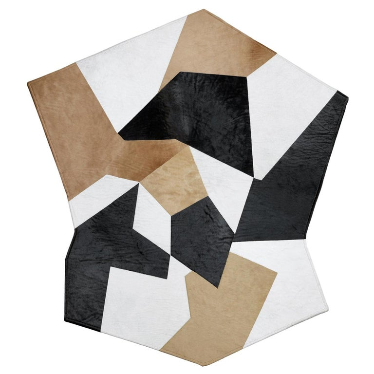 Molteni&C D.754.1 Pony Leather Rug in Multi-Color by Gio Ponti For Sale