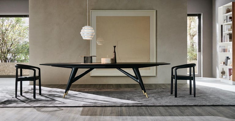 Modern Molteni&C D.859.1A Dining or Conference Table in Ash Wood by Gio Ponti For Sale