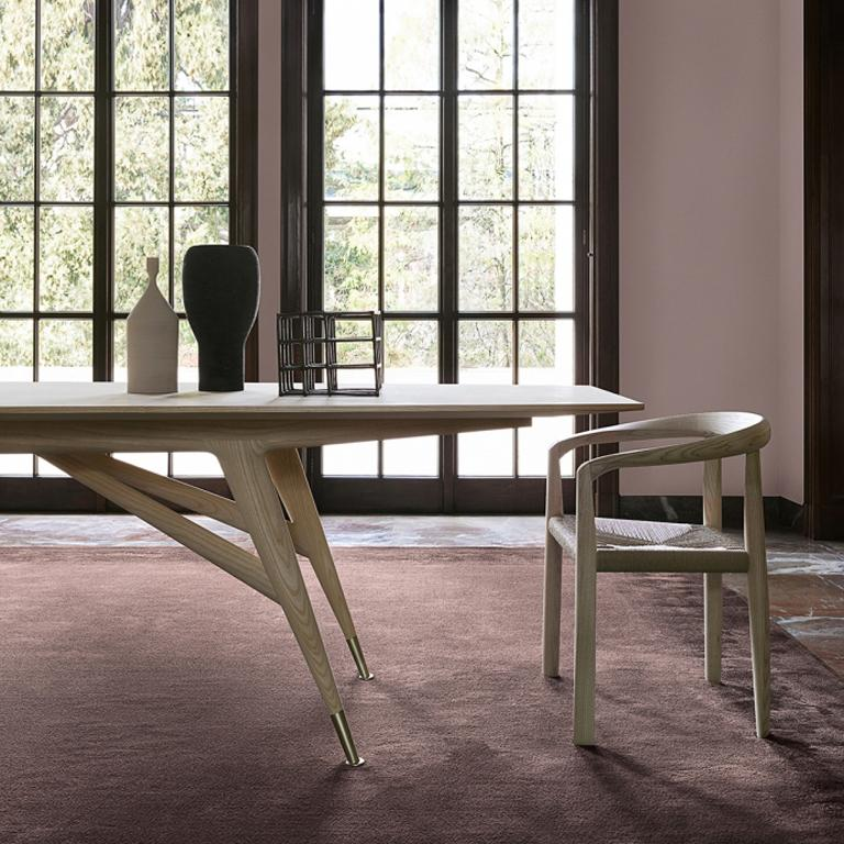 Hand-Crafted Molteni&C D.859.1A Dining or Conference Table in Ash Wood by Gio Ponti For Sale