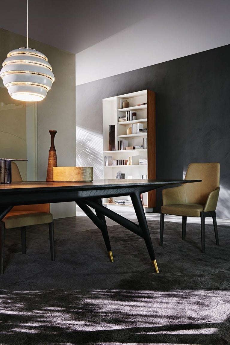 Contemporary Molteni&C D.859.1A Dining or Conference Table in Ash Wood by Gio Ponti For Sale