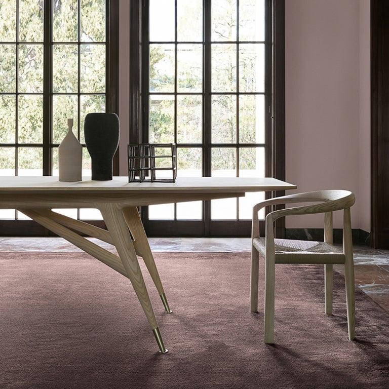 Hand-Crafted Molteni&C D.859.1A Dining or Conference Table in Natural Ash Wood by Gio Ponti For Sale
