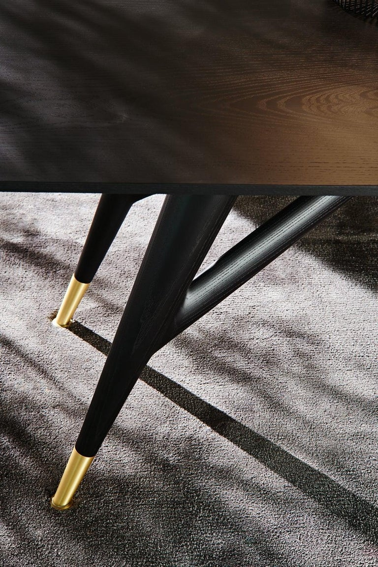 Molteni&C D.859.1A Dining or Conference Table in Natural Ash Wood by Gio Ponti For Sale 1