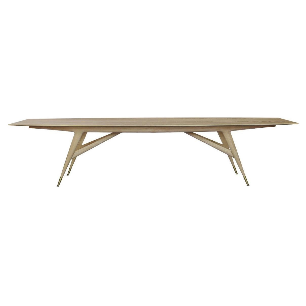 Molteni&C D.859.1A Dining or Conference Table in Natural Ash Wood by Gio Ponti