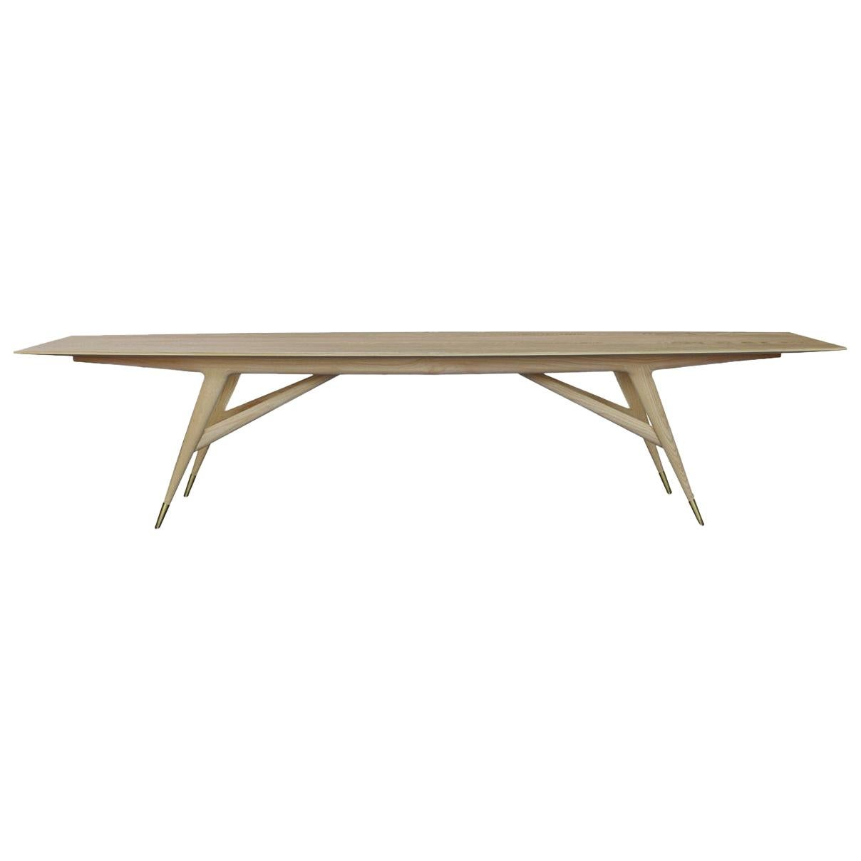Molteni&C D.859.1B Dining/Conference Table in Natural Ash Wood by Gio Ponti