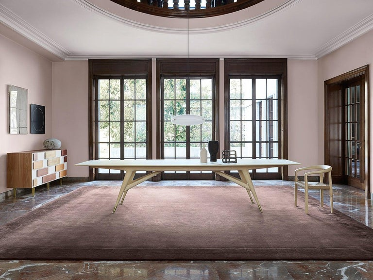 Modern Molteni&C D.859.1C Dining/Conference Table in Natural Ash Wood by Gio Ponti For Sale