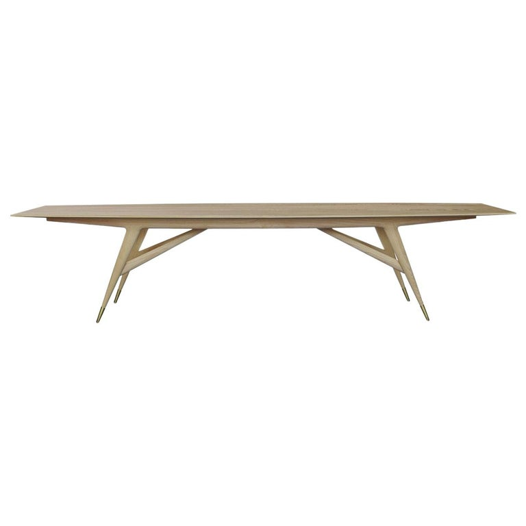 Molteni&C D.859.1C Dining/Conference Table in Natural Ash Wood by Gio Ponti For Sale