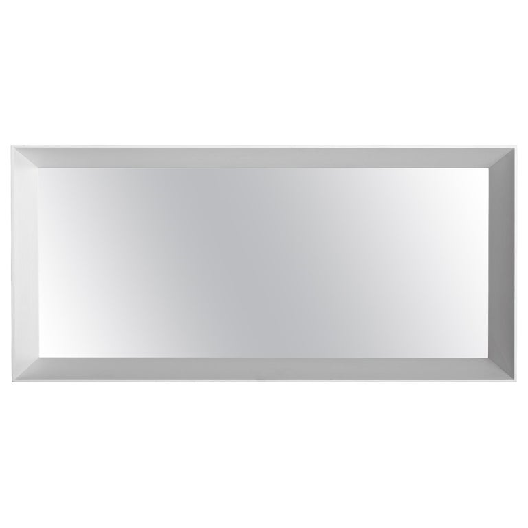 Molteni&C D.950.1E Small Framed Mirror in Toulipier Wood by Gio Ponti For Sale