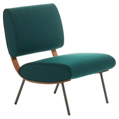 Molteni&C Gio Ponti Round D.154.5 Chair in Green and Brass