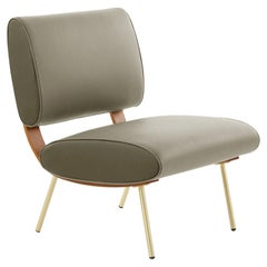 Molteni&C Gio Ponti Round D.154.5b Chair in Leather Unique and Brass