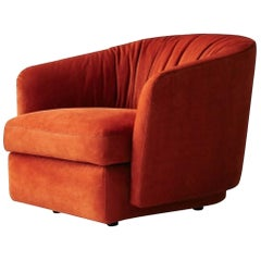 Molteni&C Holborn Lounge Armchair in Red Leather