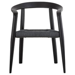 Molteni&C Miss Woven Dining Chair in Black Ash Wood by Tobia Scarpa