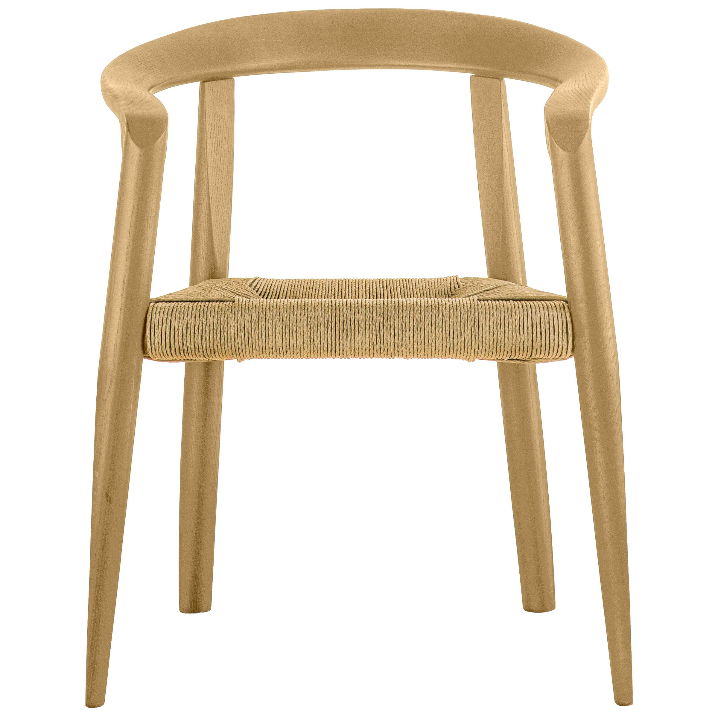 Molteni&C Miss Woven Dining Chair in Natural Ashwood by Tobia Scarpa