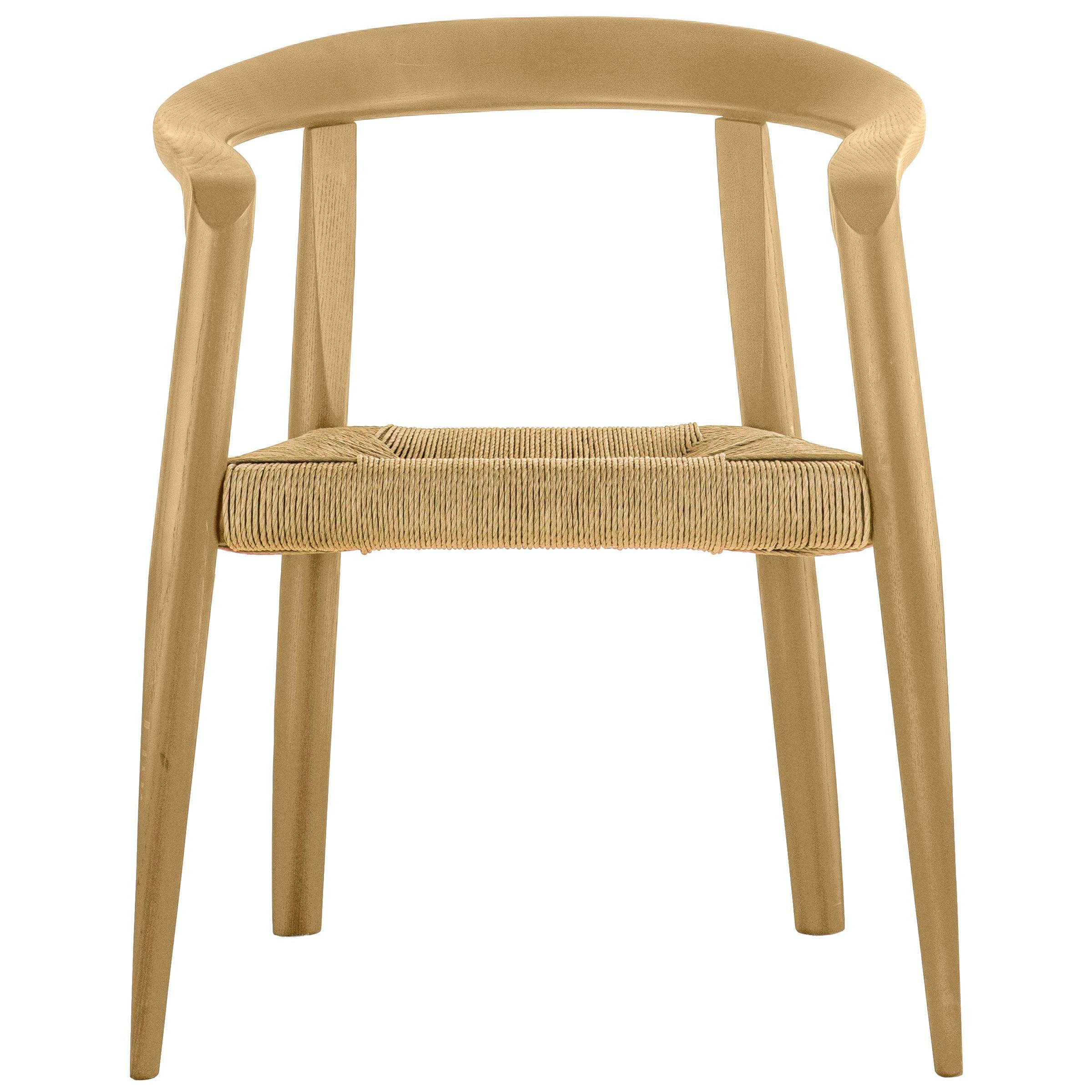 Molteni&C Miss Woven Natural Ashwood Ercu Papercord Dining Chair, Tobia Scarpa