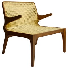Molys Contemporary Armchair with Seat and Back in Straw
