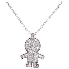 Mom Diamond Pendant Necklace