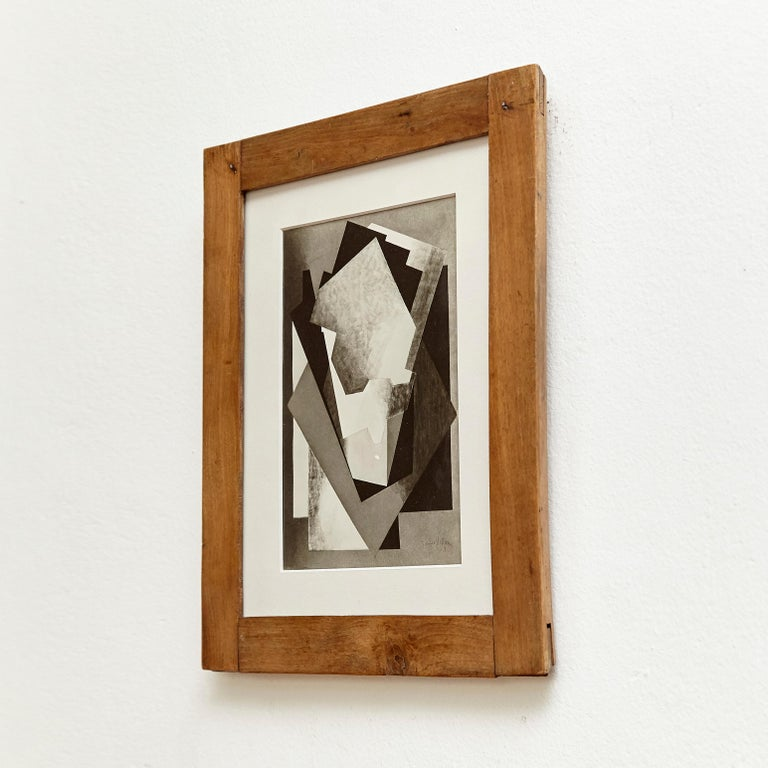 Mid-Century Modern Moma Photography of Jacques Villon Composition by Soichi Sunami, circa 1950 For Sale