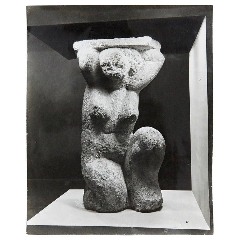 MOMA Photography of Modigliani Scultpure by Soichi Sunami, circa 1950
