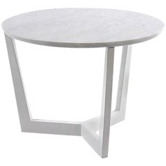 Moma Side Table with White Lacquered Finish