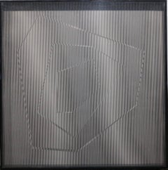 The Edge V (Op Art plexiglass box wall sculpture)