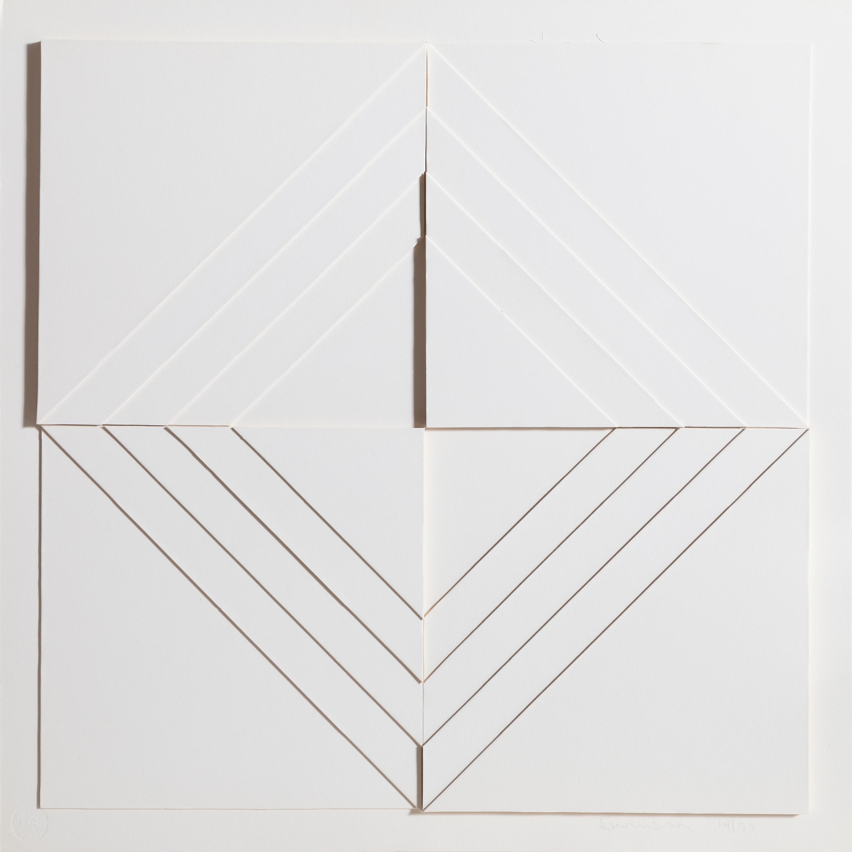 Stacked Diamonds, Minimalist 3-D Print Multiple by Mon Levinson 1969