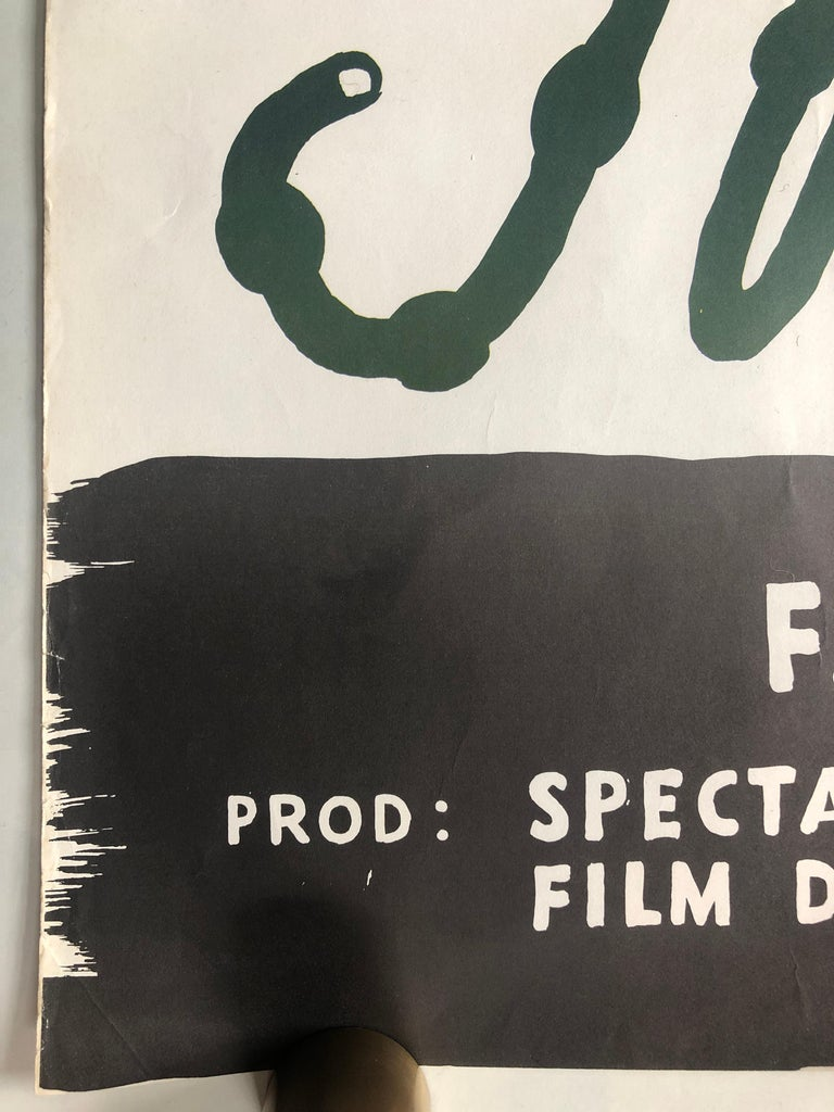 'Mon Oncle' Original Vintage Movie Poster, Swedish, 1959 In Good Condition For Sale In Devon, GB