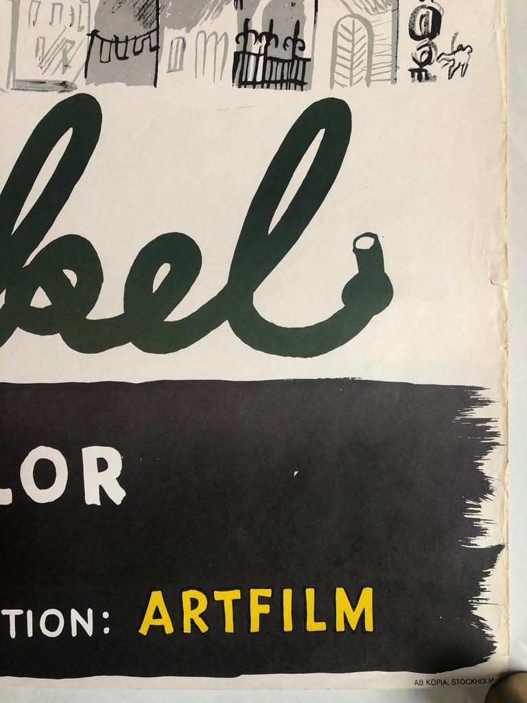 Paper 'Mon Oncle' Original Vintage Movie Poster, Swedish, 1959 For Sale